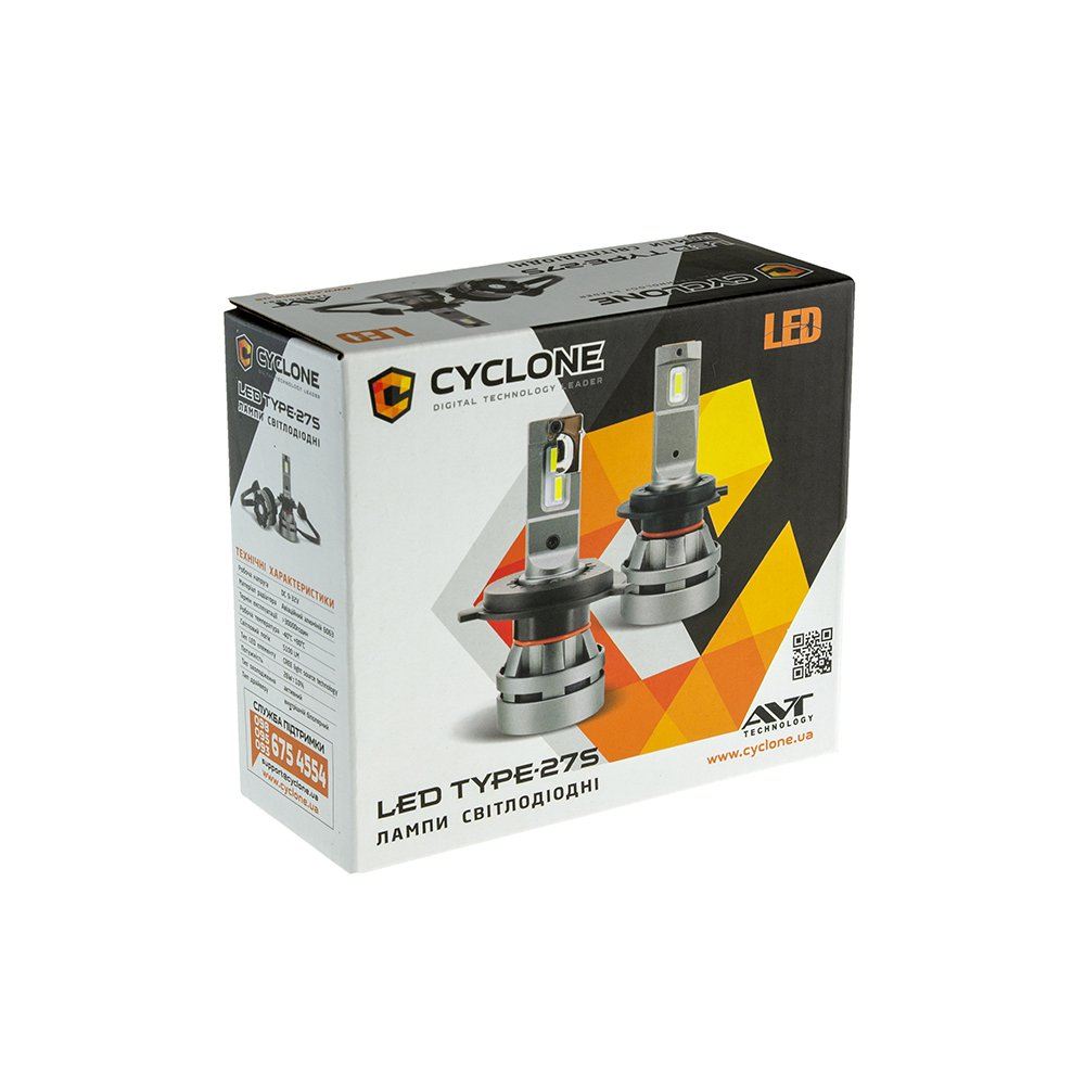 CYCLONE LED H7 5000K 5100-Lm CR type 27S - Фото 3
