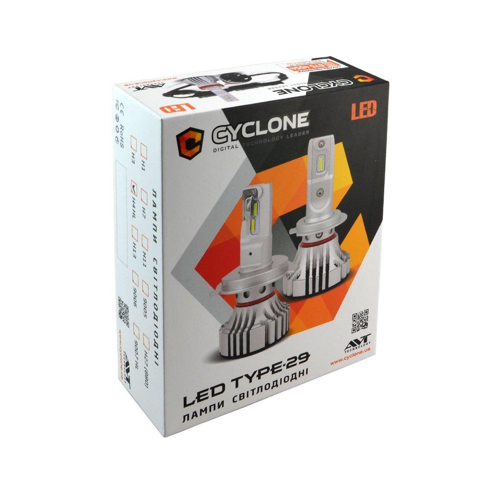 CYCLONE LED H4 H/L 5000K 6000Lm CR type 29 - Фото 2