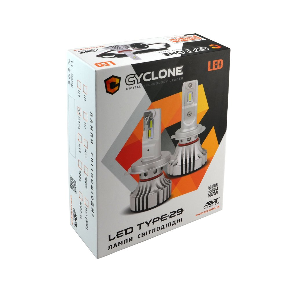 CYCLONE LED H7 5000K 6000Lm CR type 29 - Фото 2