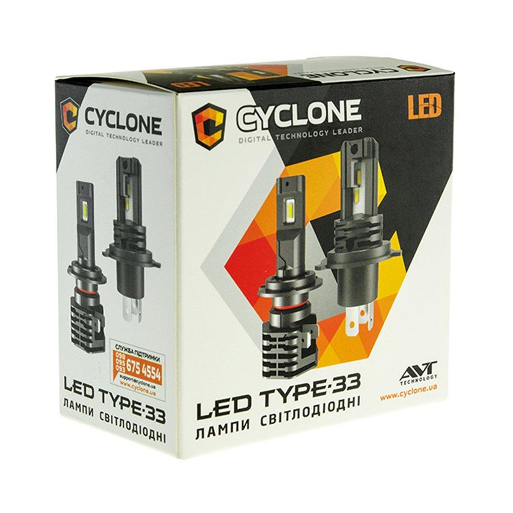 CYCLONE LED H3 5000K 4600Lm type 33 - Фото 4