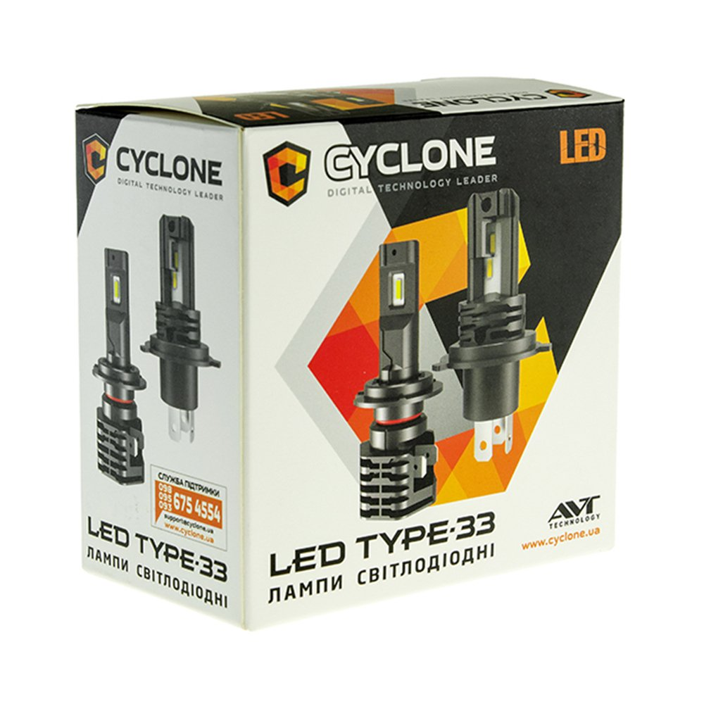 CYCLONE LED H7 5000K 4600Lm type 33 - Фото 3