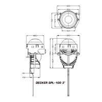 "Decker SPL-100 3"" 6000K 50W"