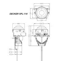 "Decker SPL-110 3"" 6000K 55W"